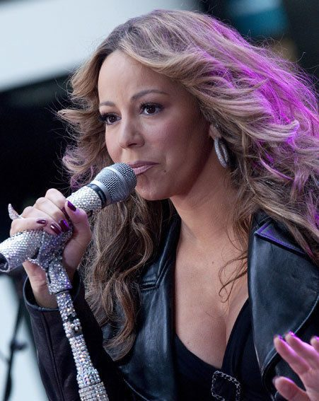 Mariah Carey took a tumble on stage in Singapore