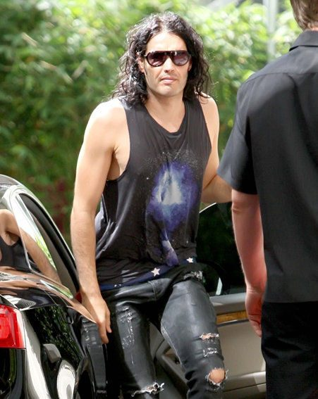 Russell Brand went to see West Ham with pals Jonathan Ross and David Walliams on his stag do