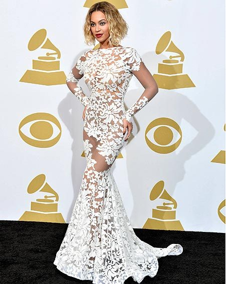Beyoncé's white frock made her the focus of the Grammy Awards 2014