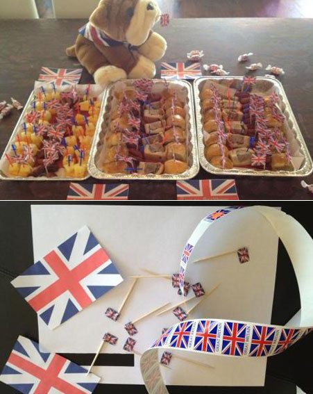 Victoria made the British party food for Romeo and Cruz's school