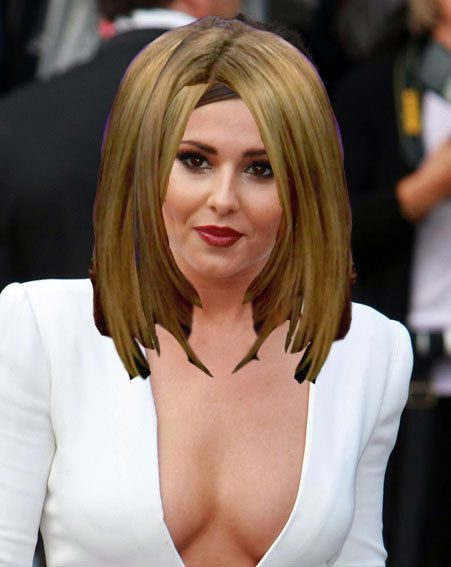 Cheryl Cole has cut all her hair off and dyed it blonde - it sort of looks like this...