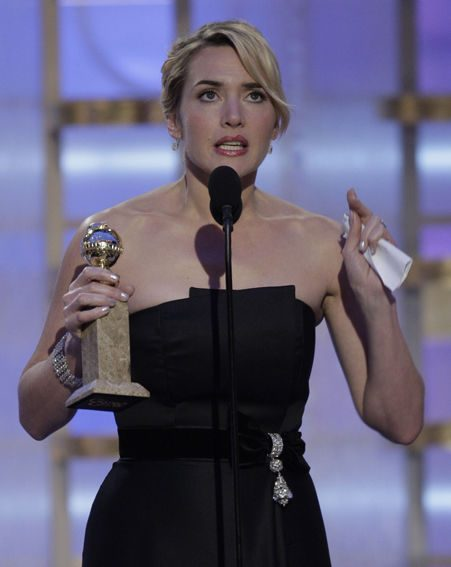 The actress made an emotional acceptance speech at the Golden Globes