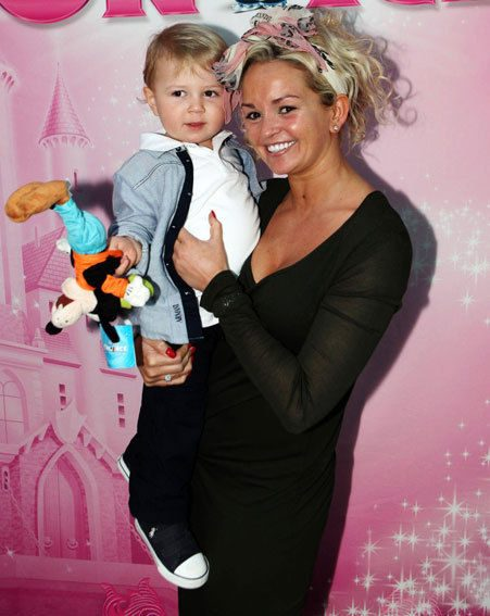 Jennifer Ellison's son was given a Goofy toy to play with instead (David Munn/PA)