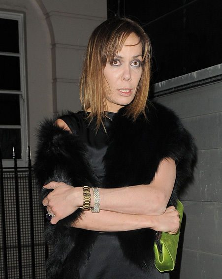 Tara Palmer-Tomkinson looked dishevelled as she stared at the paps following the awards