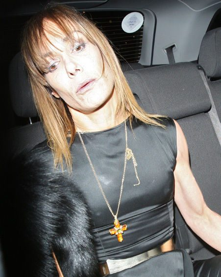 Tara Palmer-Tomkinson appeared worse for wear as she left the Attitude Awards