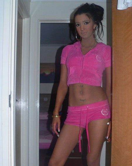 Chloe Mafia tries out a pink outfit