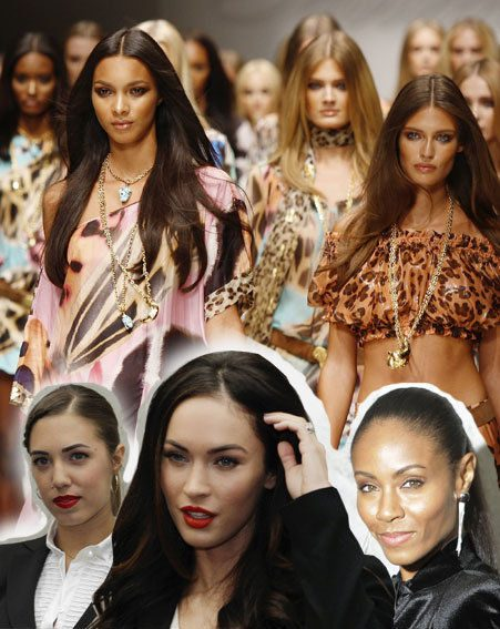 Megan Fox, Jada Pinkett Smith and Amber le Bon wore black and white