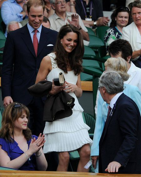 Prince William and Kate Middleton have taken a trip to Wimbledon today