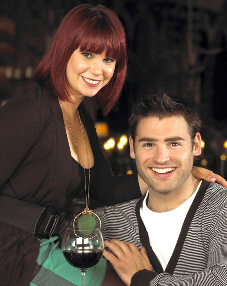 Hollyoaks pair Jessica and Stuart are great friends on-screen...