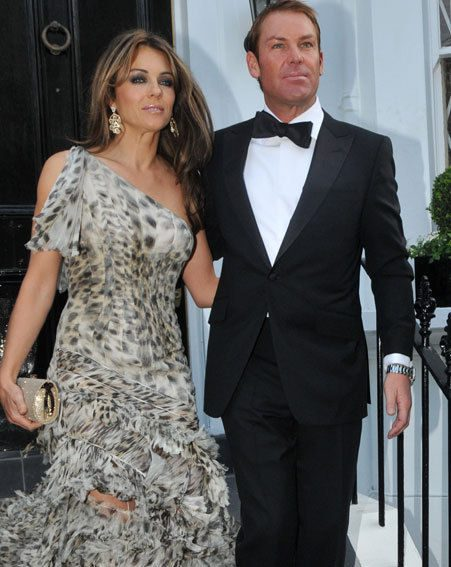 Luckily it appears Elizabeth Hurley found the perfect dress for Sir Elton John's glam ball
