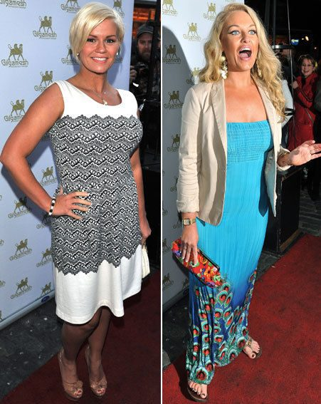 Kerry Katona and Jodie Gibson both looked gorgeous as they struck a pose