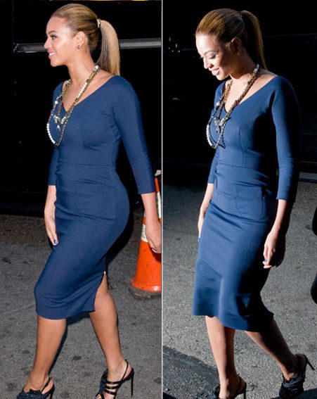 Beyonce appeared slimmer at the fundraising event