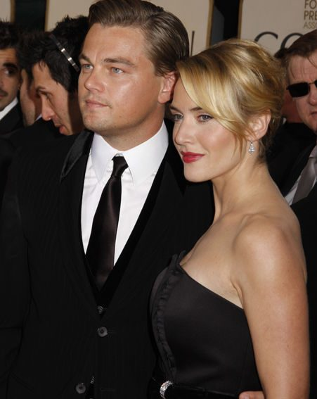 Kate with Leonardo DiCaprio, her co-star in Revolutionary Road