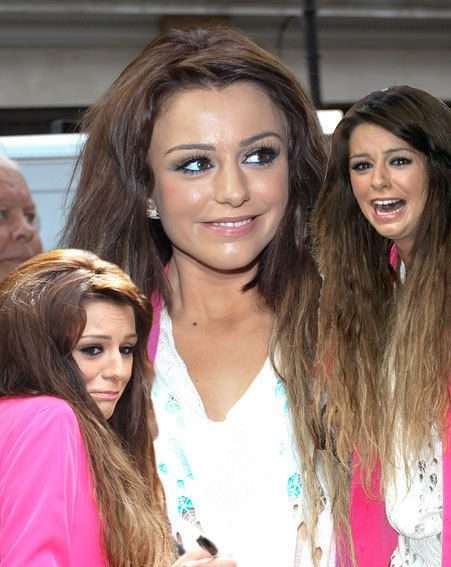 Cher Lloyd looked nervous at the debut play of her new single yesterday