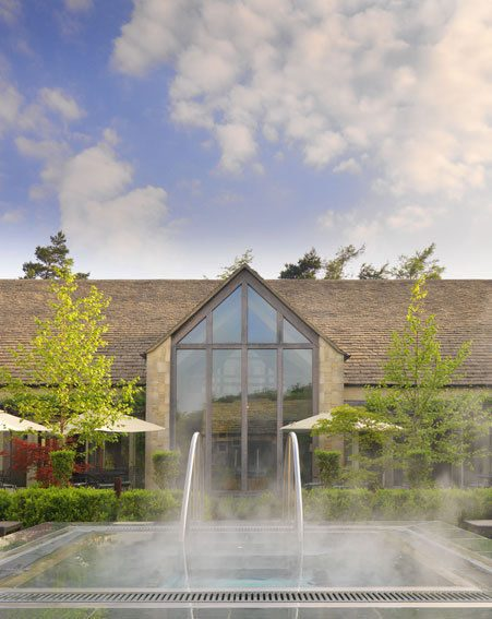Relax outside at Calcot Manor after a hard day's pampering in the spa!