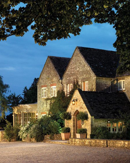 Calcot Manor is set in 220 acres of meadowland, with a pretty courtyard, barns and stables