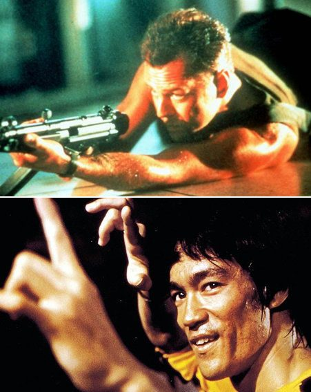 Top 10 Action Heroes: Bruce Willis and Bruce Lee