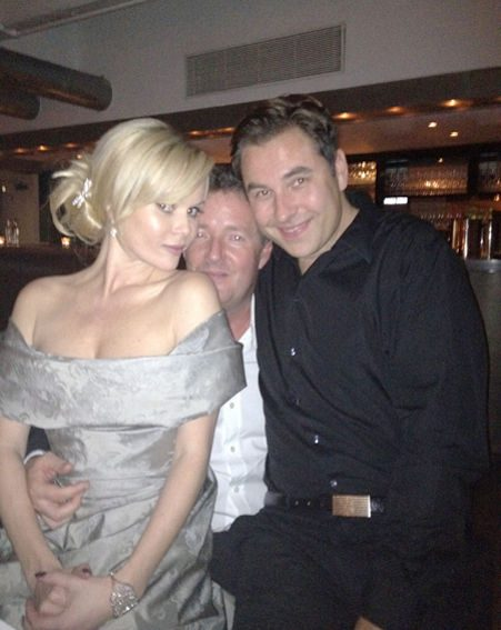 Amanda Holden enjoying her night out with Piers Morgan and David Walliams