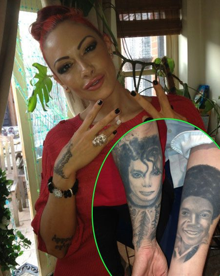 Frankie Cocozza stayed at Jodie Marsh's house last night, they spent the night comparing tats
