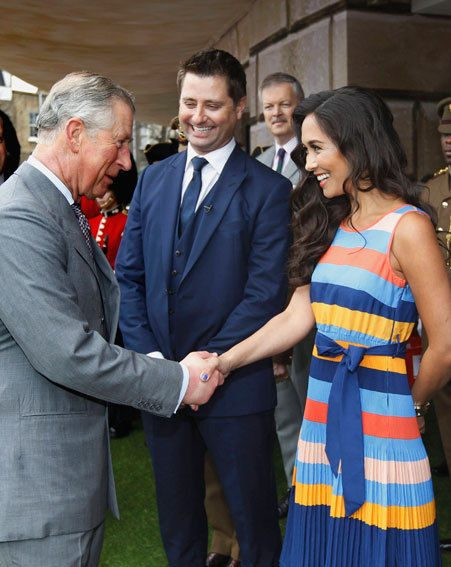 Myleene Klass met Prince Charles this morning, but had a brain fail and spoke about ironing