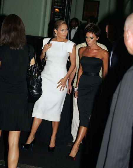 Jennifer Lopez and Victoria Beckham still enjoy trips to the cinema together - not dressed like this
