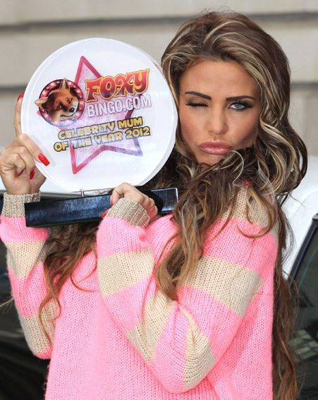 Katie Price has been named Celebrity Mum of the Year