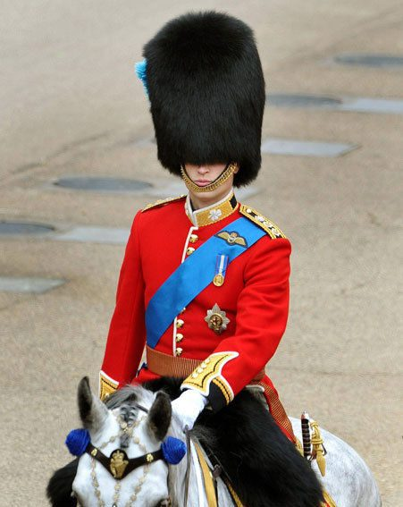 Prince William during his first Trooping the Colour as The Duke of Cambridge