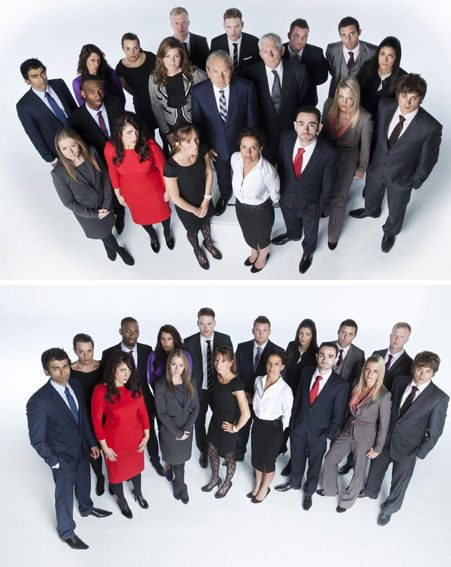 The Apprentice contestants look mildly terrified, and probably quite rightly