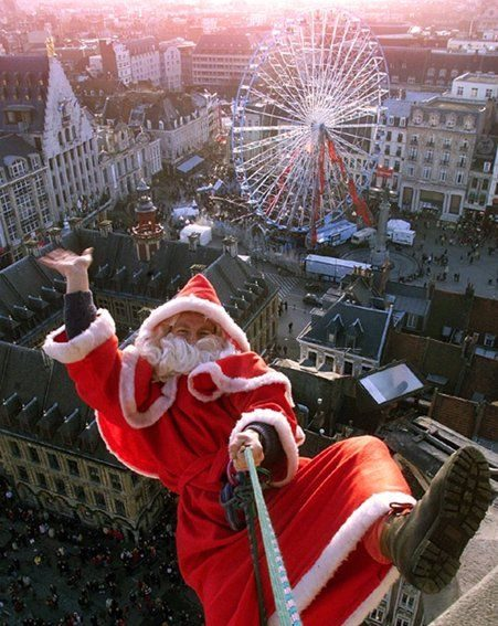 Ride the Ferris wheel and spot santa freefall at the Christmas market in Lille