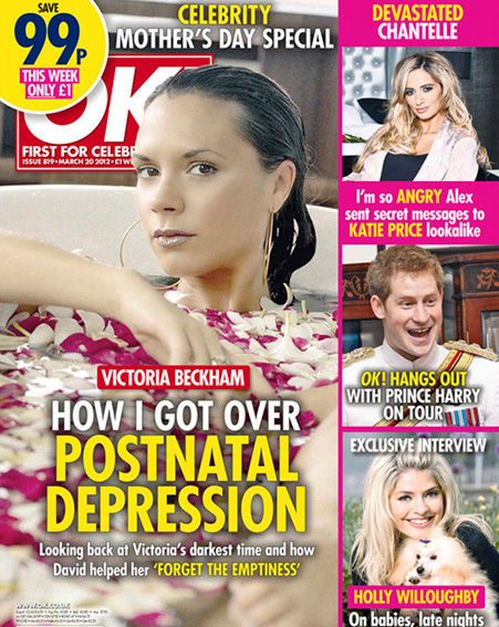 Victoria Beckham's struggle with postnatal depression in this week's OK! Magazine