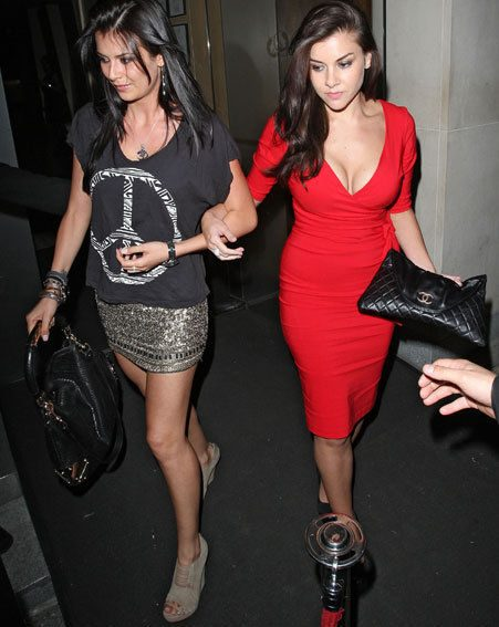 Beauty Imogen Thomas was dining out at swanky eaterie Nobu