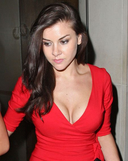 Imogen Thomas was seriously sizzling in a bright-red dress