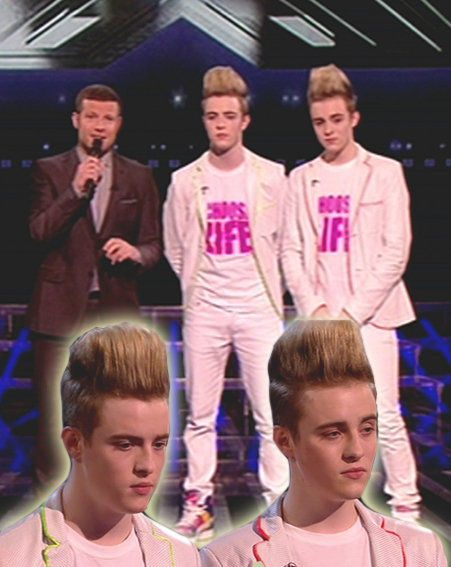 John and Edward, known as Jedward, were sent home from The X Factor