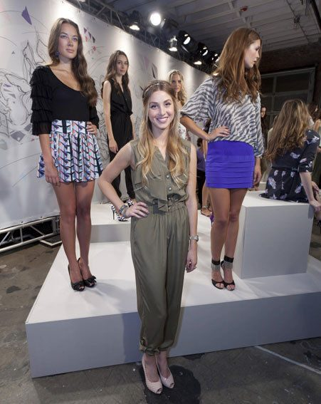 Whitney Port showed off the Whitney Eve Spring 2011 collection this weekend