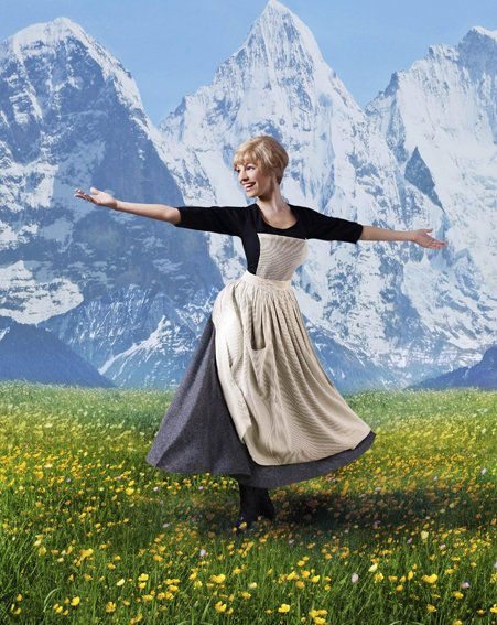 Model Kelly also posed as Julie Andrews in The Sound Of Music