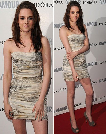 Kristen Stewart arrived in London yesterday for the Glamour Women of the Year Awards