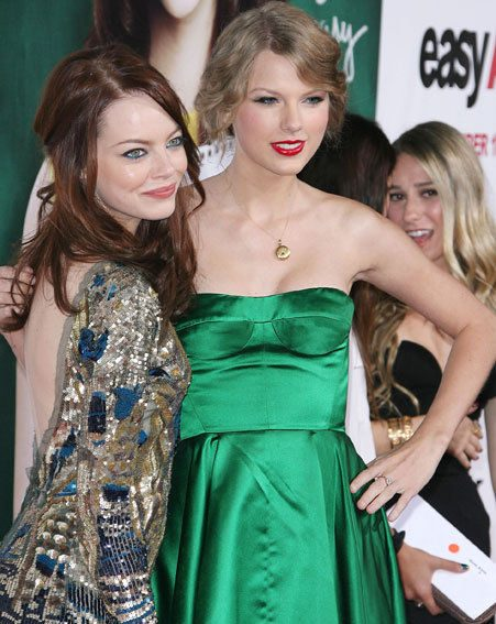 Taylor Swift turned out in support of her best friend Emma Stone at the premiere of her new film
