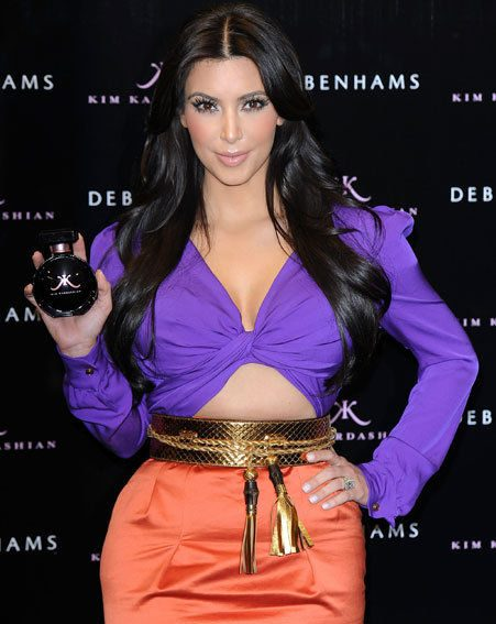 Kim Kardashian launched her self-titled fragrance at Debenhams today