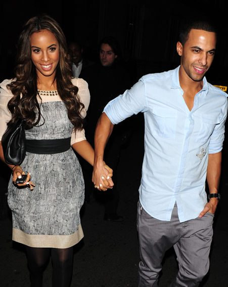 Rochelle's fiance Marvin Humes is raising awareness for Sport Relief with JLS