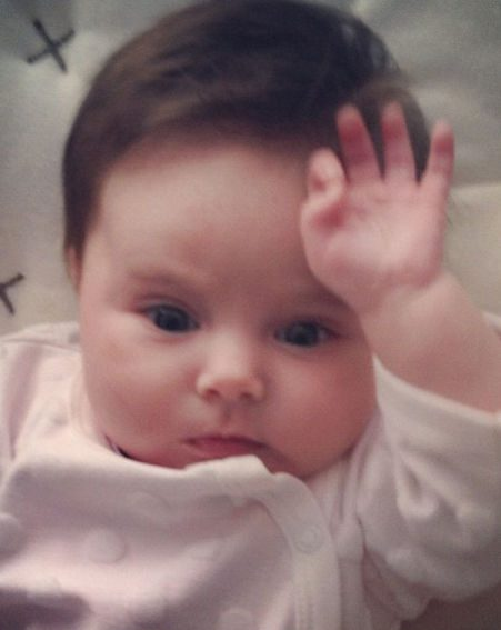 Una Healy revealed another too-cute picture of Aoife Belle Foden on Twitter