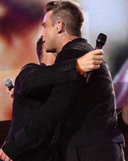 Take That stars Gary Barlow and Robbie Williams proved the