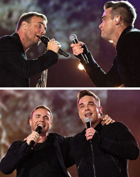 Robbie Williams and Gary Barlow hadn't performed together live for 15 years