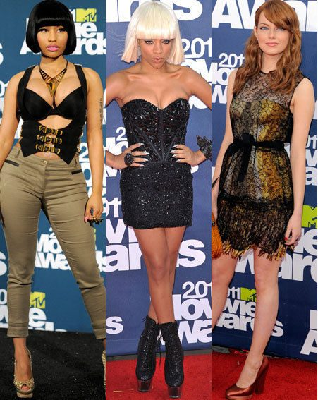 MTV Movie Awards 2011: Nikki Minaj, Lil Mama, Emma Stone