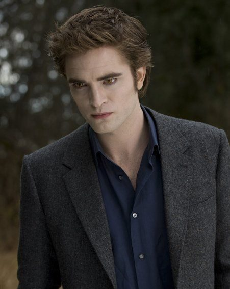 Robert Pattinson as vampire Edward Cullen