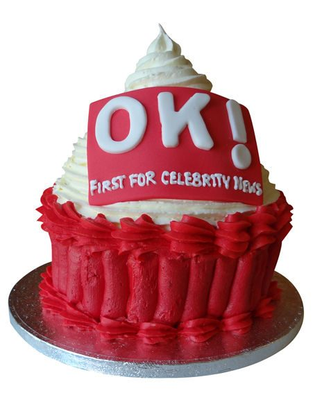 You could win an amazing giant OK! cupcake like this one!