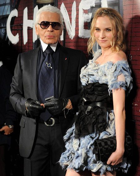 Actress Diane Kruger got LOTS of attention from Chanel's Karl Lagerfield