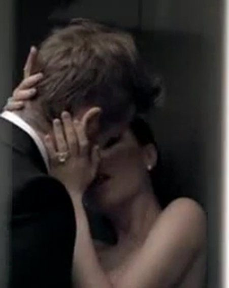 David and Victoria Beckham enjoy a steamy clinch in the Intimately Beckham Yours ad
