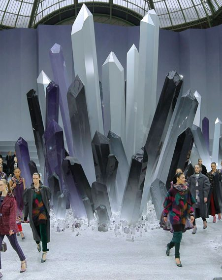 The centre of the Chanel catwalk was like Superman's planet Krypton