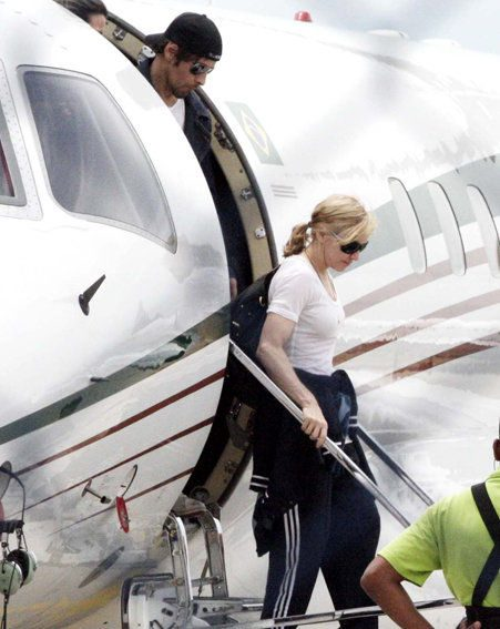 But the couple flew to Brazil last week so Madonna could meet his mother