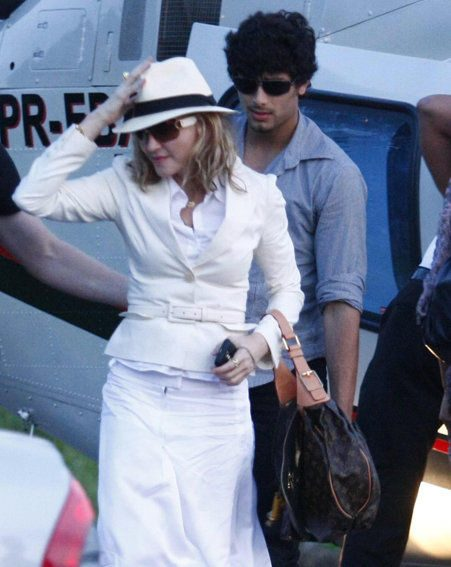 Madonna left boyfriend Jesus Luz at home (Pics: wenn.com)